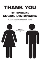 Social Distancing Required - 4 - Set of 5