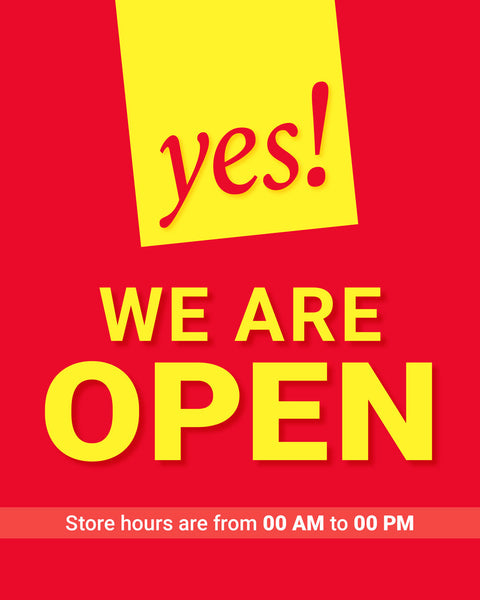 Yes! We're Open - 1