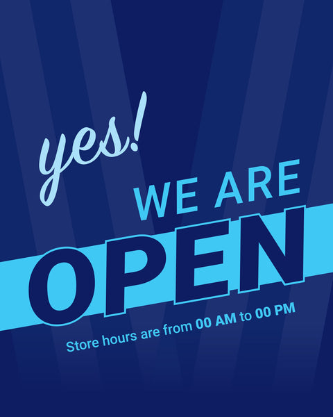 Yes! We're Open -2 - Set of 5