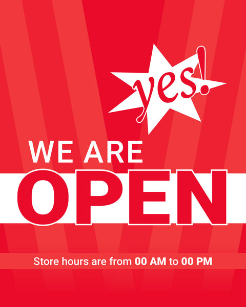 Yes! We're Open - 3 - Set of 5