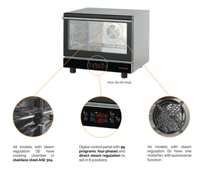 CONVECTION OVEN WITH STEAM 4 TRYS