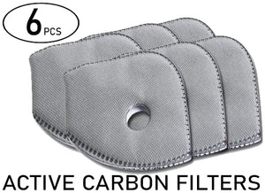 Pack 6pcs - Innovatek Neoprene Active Carbon Filter PM2.5 for BikeMask ( type F2 ) - Innovatek Store
