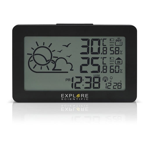 Multi-function Weather Station Explore Scientific WSH4002 LED Black