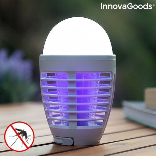 2-in-1 Rechargeable Mosquito Repellent Lamp with LED Kl Bulb InnovaGoods
