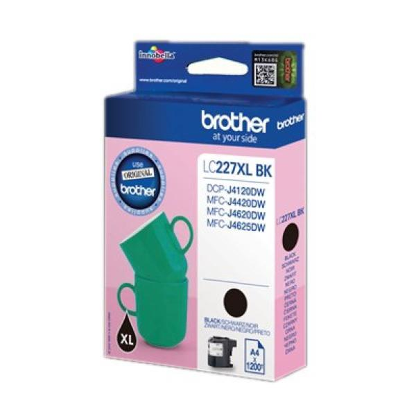 Original Ink Cartridge Brother LC227XLBKBP Black