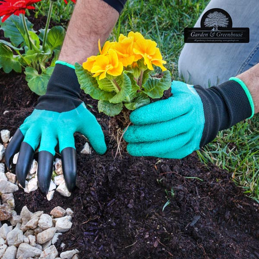 Garden & Greenhouse Gardening Gloves with 4 Digging Claws