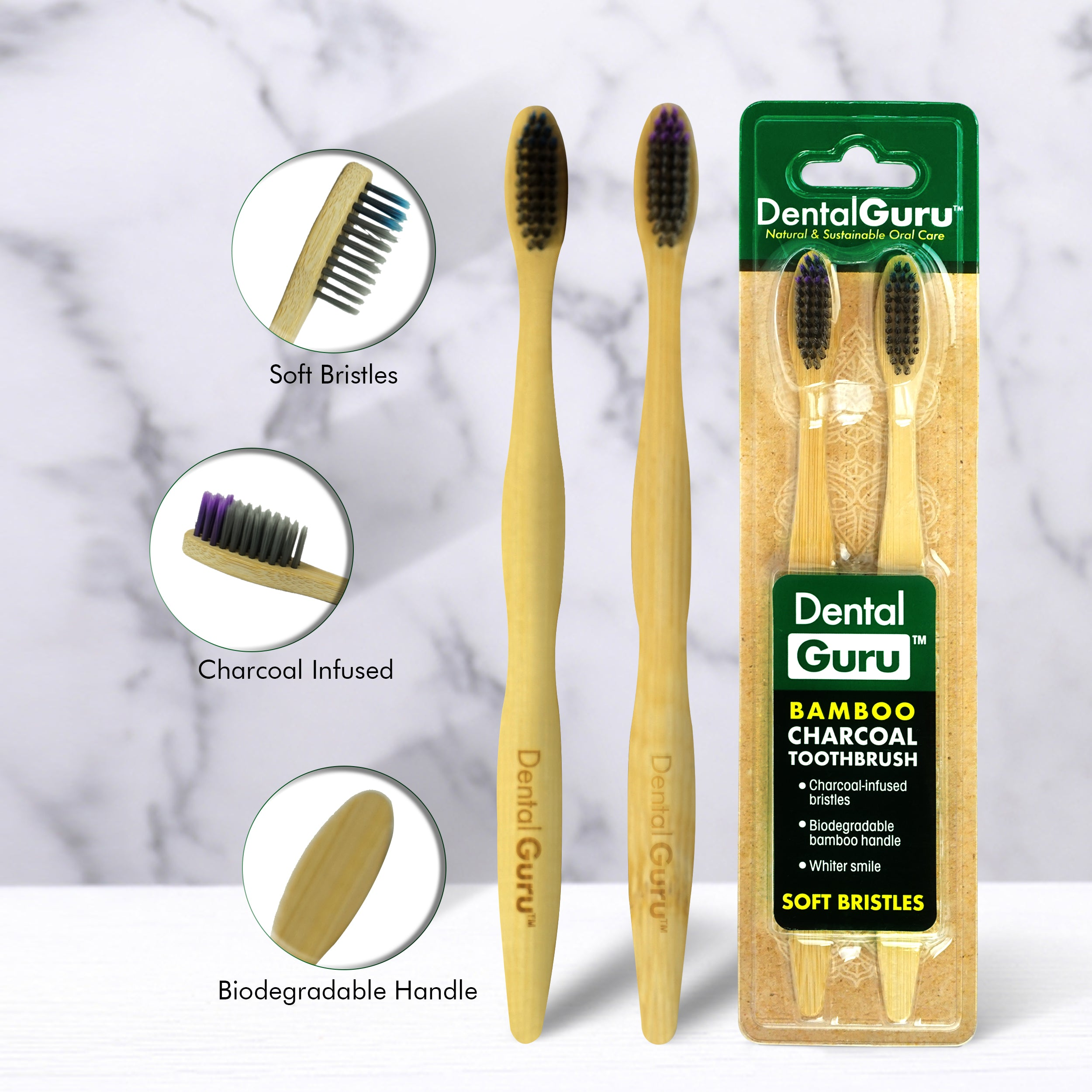 Bamboo Charcoal Toothbrush (pack of 18)