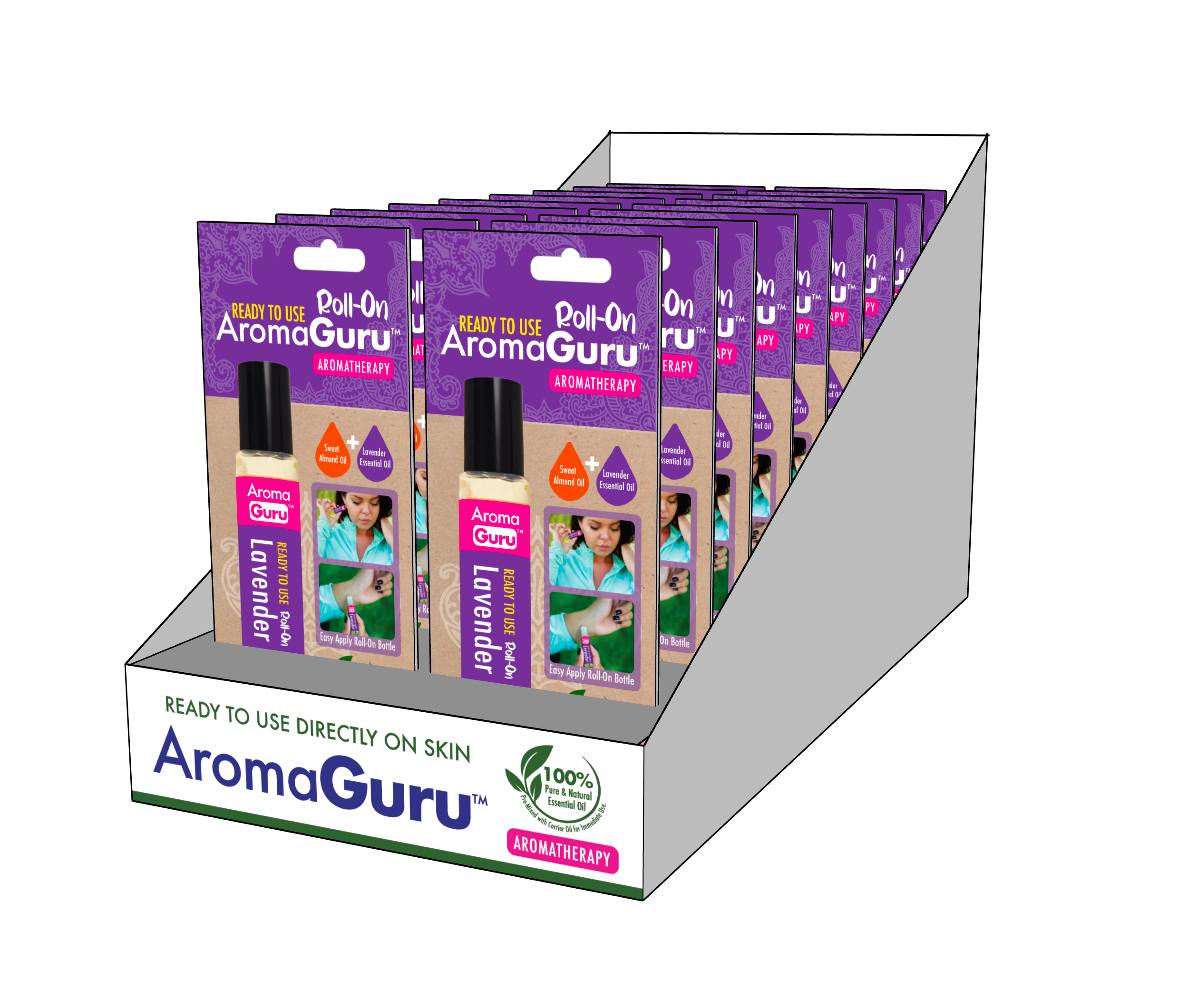 AromaGuru Lavender Roll On (Pack of 18)