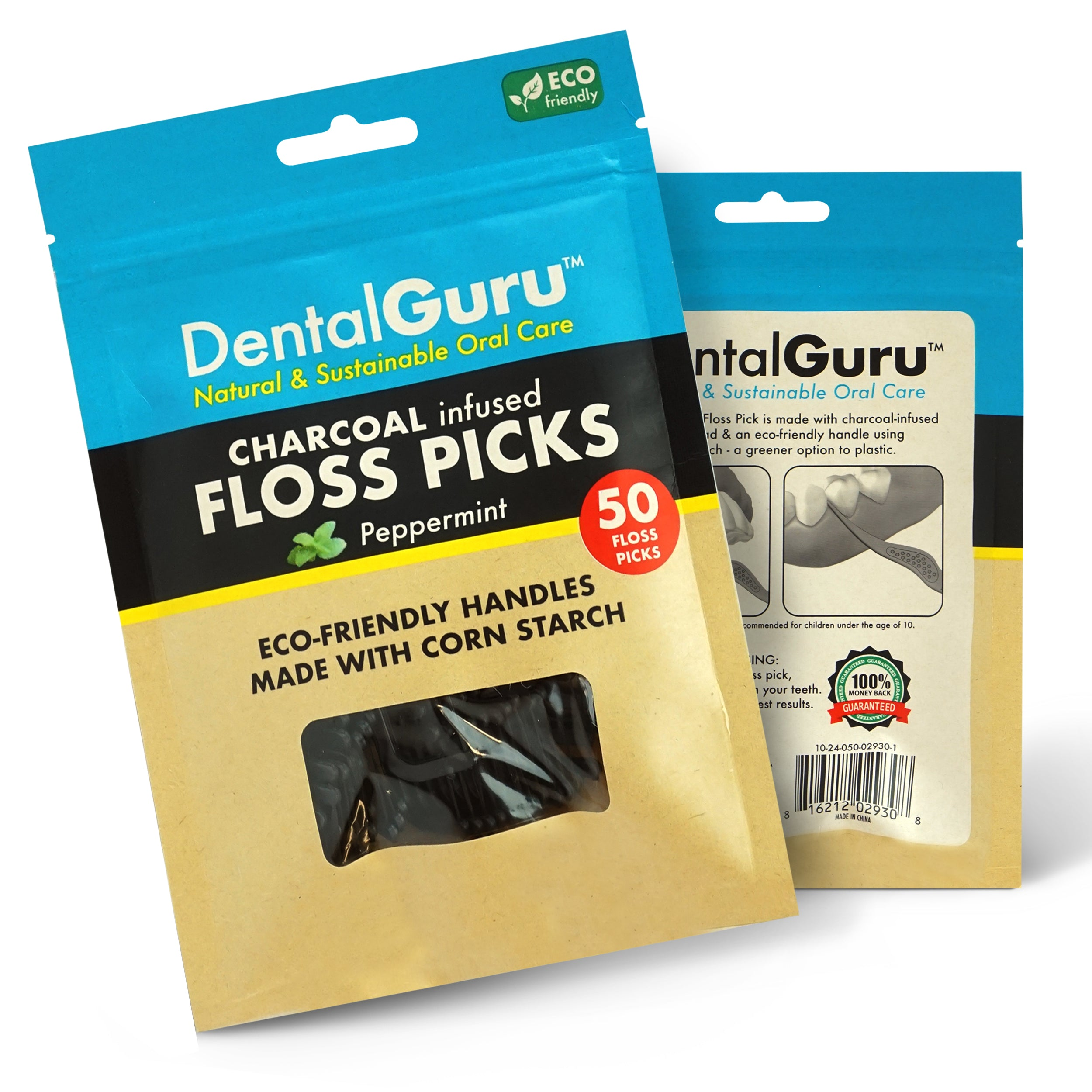 Charcoal Floss Picks (pack of 18)