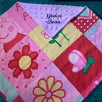 Personalised Snuggle Blanket, Embroidered Baby Blanket