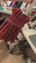 Load and play video in Gallery viewer, Christmas Tartan Tea party dress - TPD - girls dress - Christmas dress - Party dress