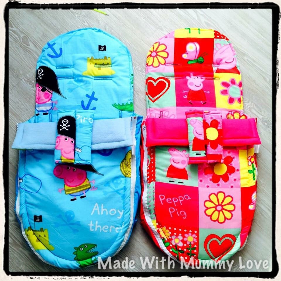 Peppa Pig/George Pig fabric Footmuff, Car Seat Footmuff & Accessories