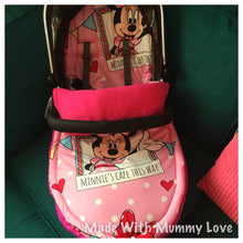 Load image into Gallery viewer, Minnie Mouse fabric Footmuff, Car Seat Footmuff & Accessories