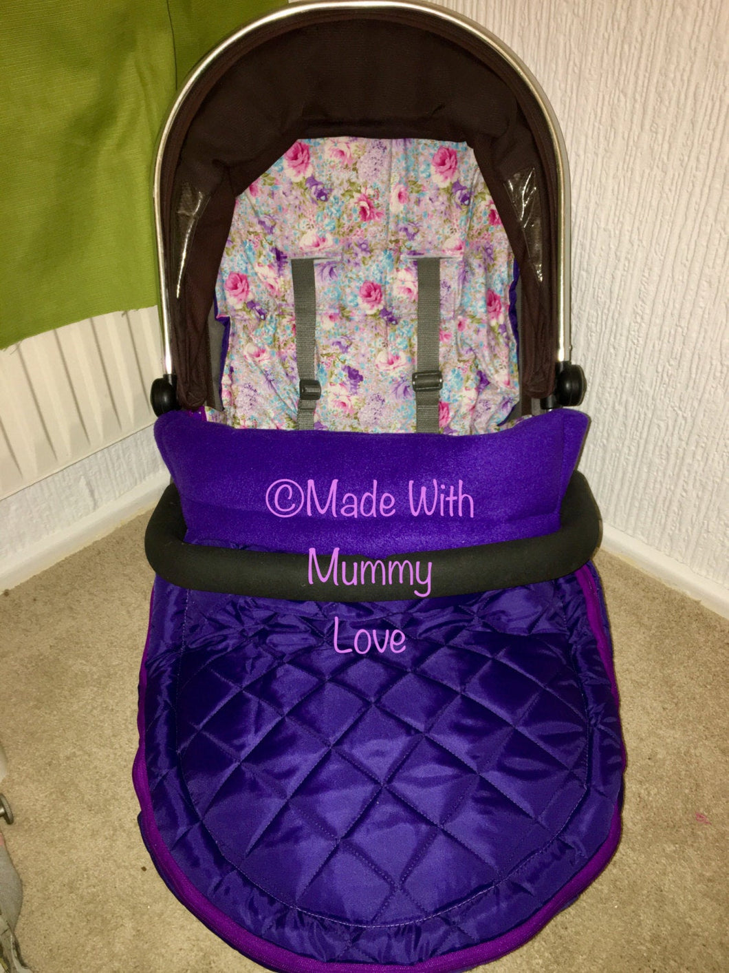 Quilted Floral Footmuff, Car Seat Footmuff & Accessories