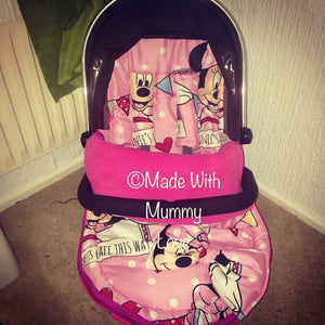 Minnie Mouse fabric Footmuff, Car Seat Footmuff & Accessories