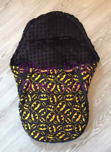 Batman fabric Footmuff, Car Seat Footmuff & Accessories