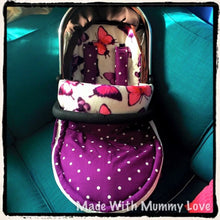 Load image into Gallery viewer, Fleecy Butterfly Footmuff, Car Seat Footmuff & Accessories