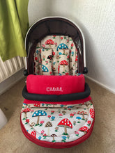 Load image into Gallery viewer, Cath Kidston roses fabric Footmuff, Car Seat Footmuff & Accessories