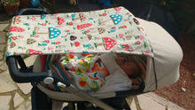 Load image into Gallery viewer, Stroller Sun Cover, Buggy Sun Cover, UV Protection, Stroller Shade, Buggy Shade, Shade Sails, Baby Gift, Sun Shade, Sun Protection, Hood