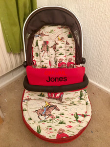 Cath Kidston cowboys fabric Footmuff, Car Seat Footmuff & Accessories