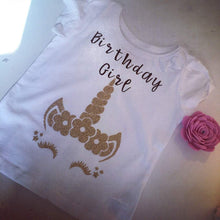 Load image into Gallery viewer, Unicorn Birthday TShirt