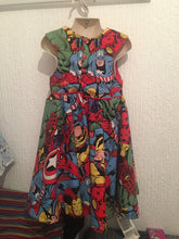 Load image into Gallery viewer, Marvel Tea party dress - TPD - girls dress - flower girl dress - bridesmaid dress