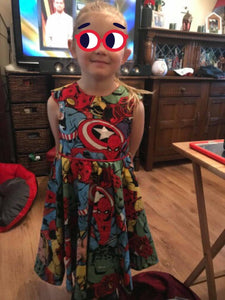 Marvel Tea party dress - TPD - girls dress - flower girl dress - bridesmaid dress