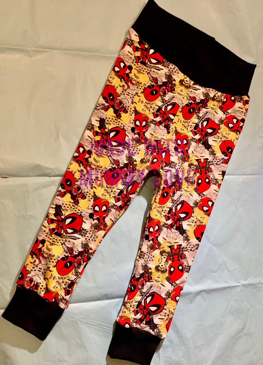 Deadpool Jersey Fabric Leggings, Trousers