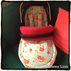 Cath Kidston rosali fabric Footmuff, Car Seat Footmuff & Accessories
