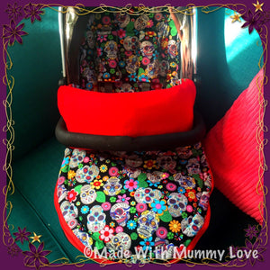 Sugar skulls fabric Footmuff, Car Seat Footmuff & Accessories