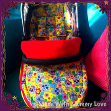 Load image into Gallery viewer, Sugar skulls fabric Footmuff, Car Seat Footmuff & Accessories