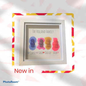 Jelly baby family frame