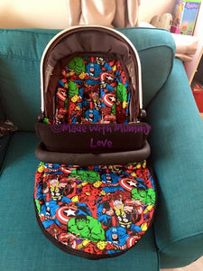 Marvel fabric footmuff, Carry car seat footmuff & Accessories