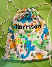 Load image into Gallery viewer, Swimming Bag, PE Bag, School Bag, Drawstring Bag, Draw String Bag, Beach Bag, Swimming, PE, School, Gym Bag, Back To School Bag, Sports Bag