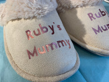Load image into Gallery viewer, Personalised Mother's Day slippers, Mother's Day slippers, mum slippers