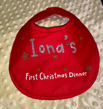Load image into Gallery viewer, My First Christmas Dinner Bib