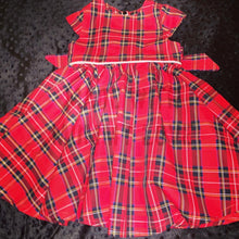 Load image into Gallery viewer, Christmas Tartan Tea party dress - TPD - girls dress - Christmas dress - Party dress