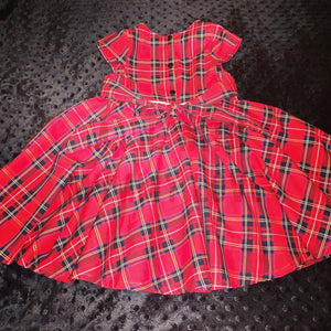 Christmas Tartan Tea party dress - TPD - girls dress - Christmas dress - Party dress