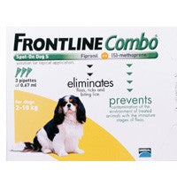 Frontline Plus (Combo) For Small Dogs Upto 22lbs 6 Pipettes