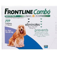 Frontline Plus (Combo) For Medium Dogs 23-44lbs 6 Pipettes
