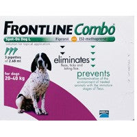 Frontline Plus (Combo) For Large Dogs 45-88lbs 6 Pipettes