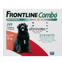 Frontline Plus (Combo) For Extra Large Dogs 89-132lbs 6 Pipettes