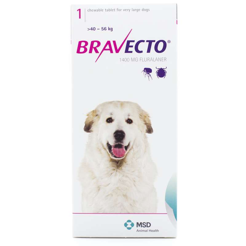 Bravecto Chewable Tablets for XLarge Dogs 88-123lbs (40-56kg)