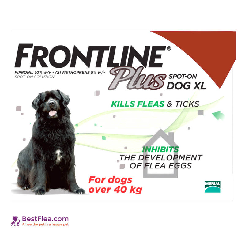 Frontline Plus For Dogs - Ex Large 89-132lbs (6 Pipettes)