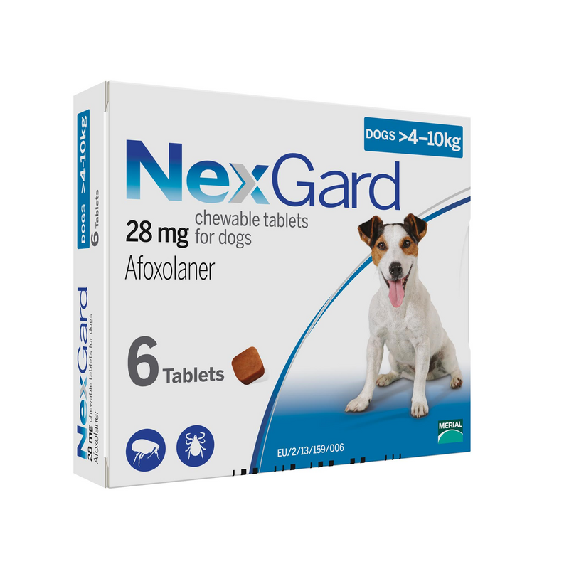 Nexgard Chewable for Medium Dogs (10-24lb) 6 pack (short dated 04-2021)