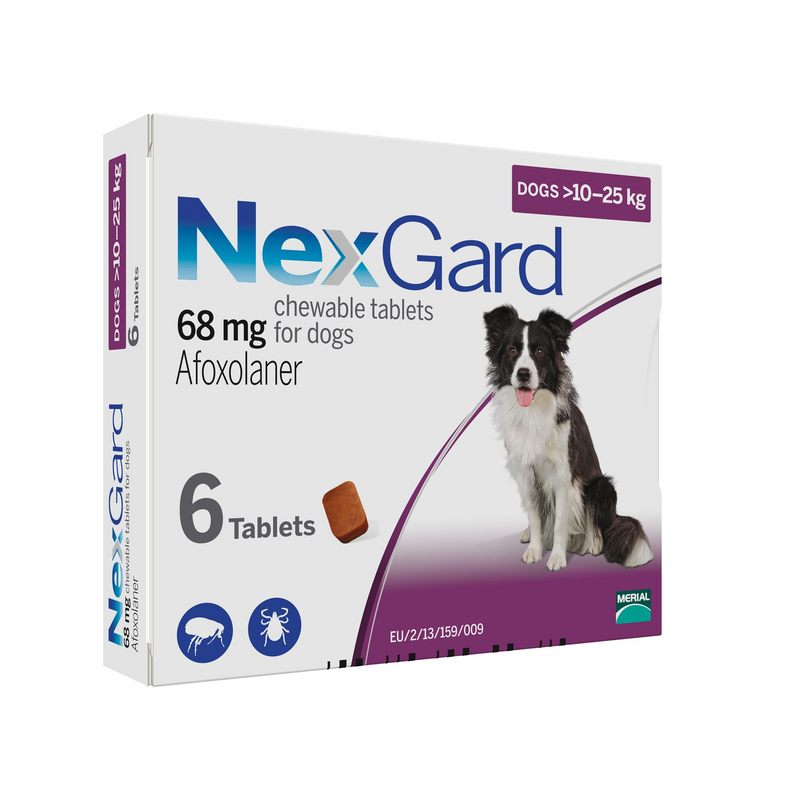Nexgard Chewable for Large Dogs (24-60lbs.) 6 pack (short dated 05-2021)