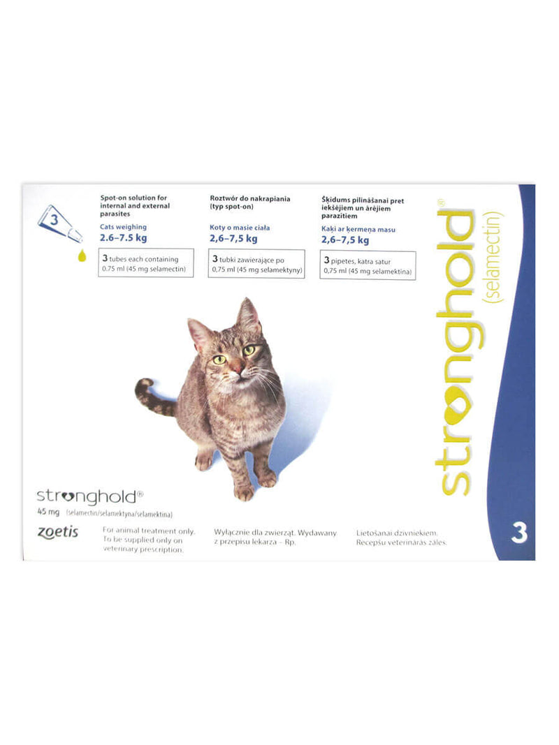 Stronghold (Revolution) Blue Cats 5-15lbs (2.6-7.5kg) - 3pk
