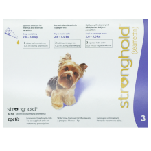 Stronghold (Revolution) Purple Toy Dogs 5.1-10lbs (2.6-5kg) - 3pk