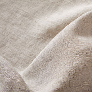 Pure Italian Hemp Double Fitted Sheet in Latte/Oat colors