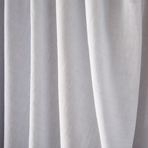Pure Linen Double Fitted Sheet in Cameo/Powder Blue colors